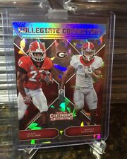 2018 Contenders Draft Picks NICK CHUBB, SONY MICHEL CRACKED ICE Connections /23