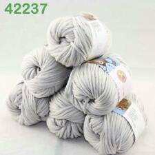 C Sale 6Balls X 50g Pure Cotton Chunky Worsted Knitwear Woolen Knitting Yarn 34