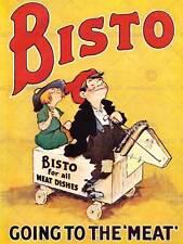 ADVERT FOOD KITCHEN STOCK MEAT BEEF HOBBYHORSE KIDS RETRO PRINT POSTER BB7412
