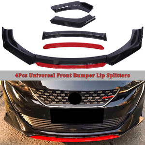 Carbon Fiber Universal Car Front Bumper Lip Splitter Spoiler Protector Body Kit