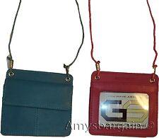 Lot of 2 Women's Neck String Travel Neck Pouch Wallet ID biz Credit Card case BN