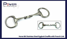 "Horse Bit Stainless Steel 5.75"" Eggbutt Snaffle with French Link Stainless Steel"