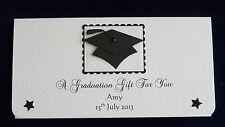 Graduation Gift/Money/Voucher Wallet - Handmade Personalised