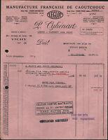 """CUSSET / VICHY (03) USINE de CAOUTCHOUC LEGLOT """"L. OYHENART"""" en 1936"""