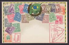 Zieher #84 unused PPC. Stamps of Brazil, Flat