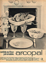 PUBLICITE ADVERTISING  1962   ARCOPAL   verres assiettes plats