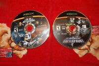 Disc Only - Lot of 2 Star Wars: Battlefront & II (Microsoft Xbox, 2005)