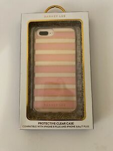DABNEY LEE Protective Clear Case For iPhone 8/7/6S/6 PlusPink/Clear/Gold Glitter