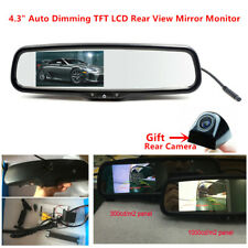 "4.3"" NTSC Auto Dimming TFT LCD Rearview Mirror Monitor + Camera Night vision 12V"
