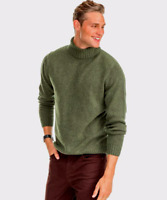 NWT Southern Tide Mens Merino Turtleneck Sweater 4837 Forest Green Size 2XL $145