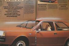 176045) Volvo 343 DL - Schweden - Prospekt 1977