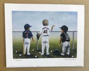 Albert Belle, Mo Vaughn, & Frank Thomas  8x10 Baseball Animated Baby Print