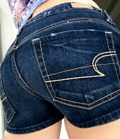 American Eagle Outfitters AE Low Rise Womens Stretch Denim blue Jean Shorts  4