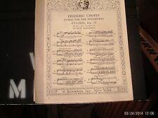 Chopin, ed. Friedheim: Etude in E Major, piano solo (Schirmer)