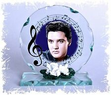 Elvis Blue Mood Photo Cut Glass Round Plaque Creative Limited Edition  #4
