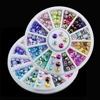 Rhinestones Acrylic Glitters Manicure Wheel DIY Nail Decoration Nail Art Tips