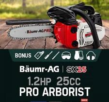 """Genuine 1.2Hp 25cc 10"""" Pro Arborist Chainsaw Petrol 2 Stroke Commercial Pro-Seri"""