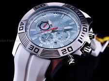 Invicta Men 50mm SEARAY Pro Diver Chronograph platinum MOP SS White Strap Watch
