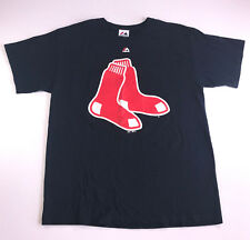Boston Red Sox MLB Majestic Men's Large Shirt Navy Blue Short Sleeve Graphic Tee