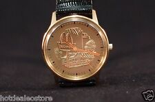 EXTREMELY RARE NEW - Accutron Bulova McDonald's Award Watch - Real Lizard Strap