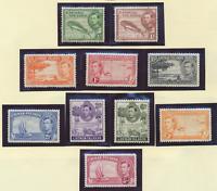 Cayman Islands Stamps Scott #100 //110 MH/Hinge Remnant, 10 Different, Short Set