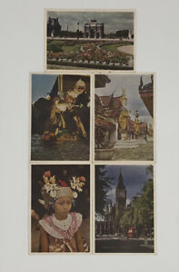Vintage lot of 5 KLM Postcards Cigarettes and Alcohol Price List