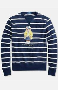 Polo Ralph Lauren XL Mesh Lightweight Sweatshirt CP93 Bear stadium p wing
