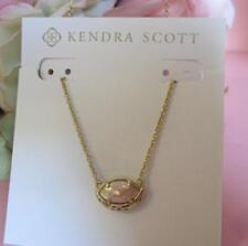 Kendra Scott Mikka Crackle Brown Mother of Pearl Necklace NWT