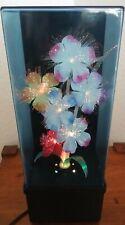 Vintage Fiber Optic Flowers Color Changing Lamp Light & Music Box -