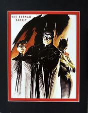 The BATMAN FAMILY PRINT PROFESSIONALLY MATTED Alex Ross art Batgirl