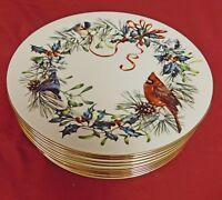 """Lenox Winter Greetings 10.75"""" Dinner Plate Set of 10"""