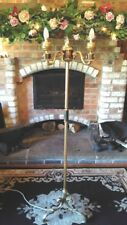 """French Rococo Style Gilt Gold Brass Floor Stand Lamp Light Three Arm 60"""" Lion"""