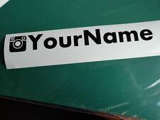 Instagram nametag - Offroad/4x4/Car/Van/Camper/Bike Decal Sticker Vinyl Graphic