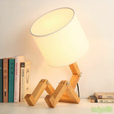 New Creative Little Man Wooden Table Lamp Study Desk Lamp Decorative Lighting