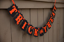 """Halloween """"Trick or Treat"""" Banner, Halloween Party Decorations USA Seller"""