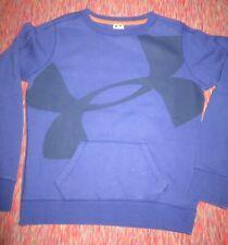 Under Armour Girls Youth Large Cotton Blend Kangaroo Pocket Purple Sweatshirt