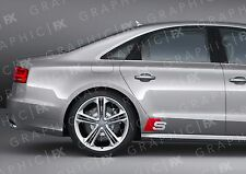 x2 Premium Audi S Line Logo Car Bodywork Stickers