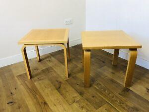 Magnus Olesen Side Tables - A Pair Danish Vintage Retro