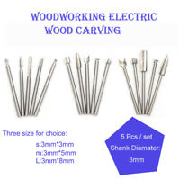 Woodworking Electric Wood Carving Hand Tool Chisel Rotary Drill Grinding Head