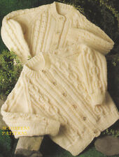 Knitting Pattern To Make Babies Toddlers Childrens Raglan Aran Cardigans 20-28
