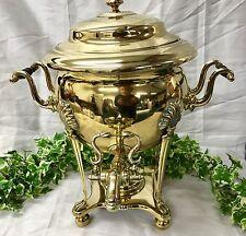 Belle grande 19th siècle en laiton antique samovar thé urne chaudière à eau c.1800's