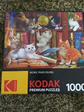 Kodak Premium Puzzles 1000 Piece Kittens In A Library