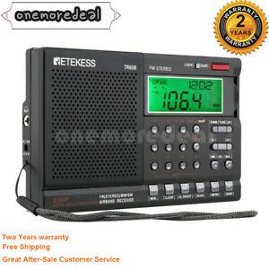 Retekess TR608 Aviation Band Radio FM/MW/S/Air Band Receiver w/ LCD Clock Alarm