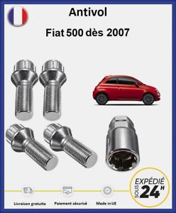 Ecrous antivol de roues Fiat 500 2007-2021