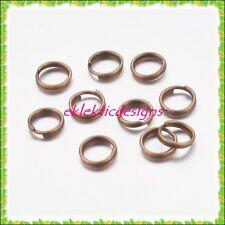 6mm 50pcs Antique Brass Bronze Split Dbl Jump Rings Jewelry Findings Earrings