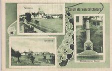 1521) SALUTI DA SAN CRISTOFORO. 3 VEDUTE.