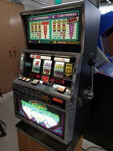 IGT S - Plus Triple, Triple Diamond .25 Cent Slot Machine, w/ Stand