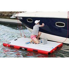"Aqua Marina Island Inflatable Air Platform Dock 8'2"" L x 5'3"" W supports 584 lbs"