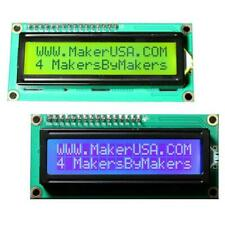 2 Pack 1602 LCD 16x2 HD44780 Character I2C Serial Interface Module Blue & Green