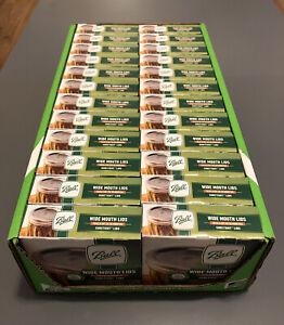 BALL SURETIGHT Wide Mouth Canning Mason Jar Lids 24 Boxes ~ 1 Case ~288 CT Lids